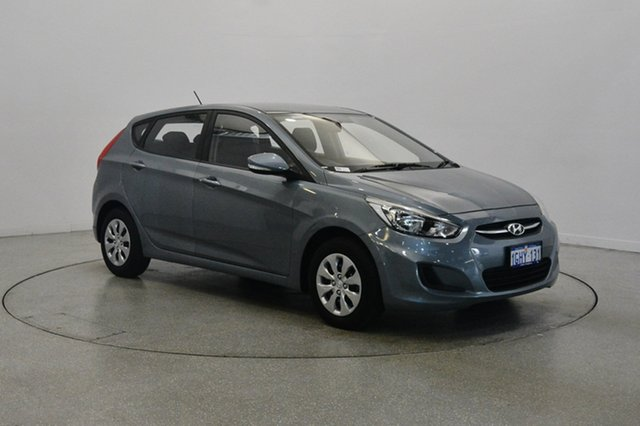 Used Hyundai Accent RB4 MY17 Active, 2017 Hyundai Accent RB4 MY17 Active Lake Silver 6 Speed Constant Variable Hatchback
