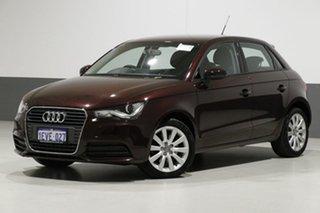 2015 Audi A1 8X MY14 Sportback 1.4 TFSI Attraction Purple 7 Speed Auto Direct Shift Hatchback.