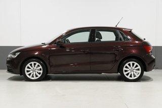 2015 Audi A1 8X MY14 Sportback 1.4 TFSI Attraction Purple 7 Speed Auto Direct Shift Hatchback