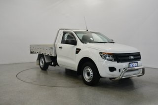 2015 Ford Ranger PX XL 4x2 Cool White 6 Speed Manual Cab Chassis