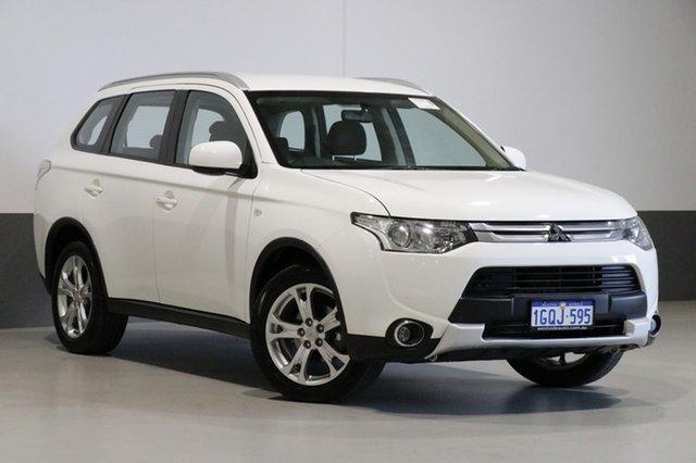 Used Mitsubishi Outlander ZJ MY14 ES (4x4), 2014 Mitsubishi Outlander ZJ MY14 ES (4x4) White Continuous Variable Wagon