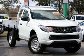2018 Mitsubishi Triton MQ MY18 GLX 4x2 White 6 Speed Manual Cab Chassis.