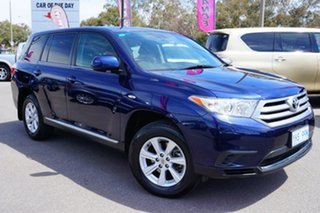 2011 Toyota Kluger GSU40R MY11 KX-R 2WD Blue 5 Speed Sports Automatic Wagon.