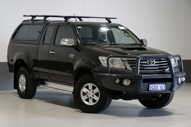 Used Toyota Hilux KUN26R MY12 SR5 (4x4), 2012 Toyota Hilux KUN26R MY12 SR5 (4x4) Black 5 Speed Manual X Cab Pickup