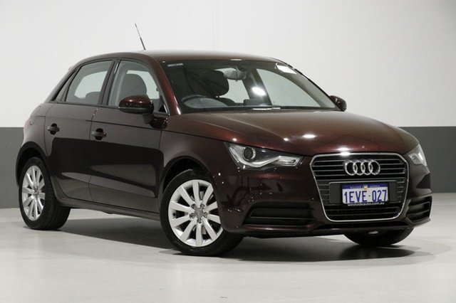 Used Audi A1 8X MY14 Sportback 1.4 TFSI Attraction, 2015 Audi A1 8X MY14 Sportback 1.4 TFSI Attraction Purple 7 Speed Auto Direct Shift Hatchback