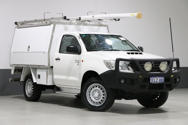 Used Toyota Hilux KUN26R MY12 SR (4x4), 2014 Toyota Hilux KUN26R MY12 SR (4x4) White 5 Speed Manual Cab Chassis