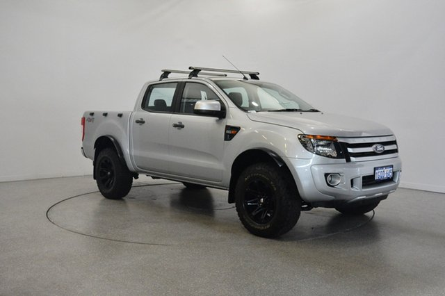 Used Ford Ranger PX XLS Double Cab, 2014 Ford Ranger PX XLS Double Cab Silver 6 Speed Manual Utility