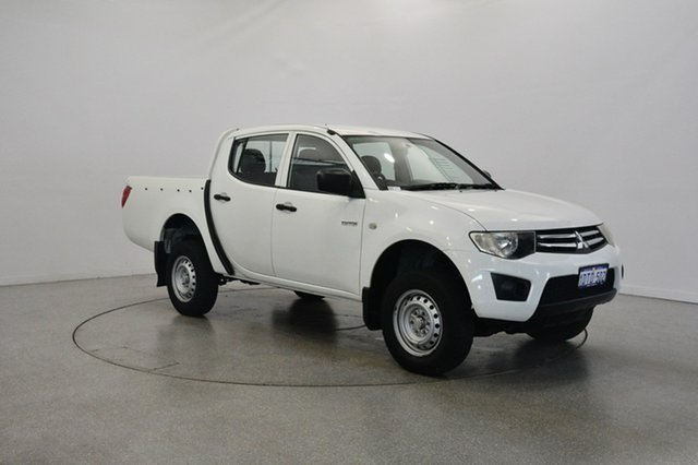 Used Mitsubishi Triton MN MY11 GLX Double Cab 4x2, 2011 Mitsubishi Triton MN MY11 GLX Double Cab 4x2 White Solid 5 Speed Manual Utility