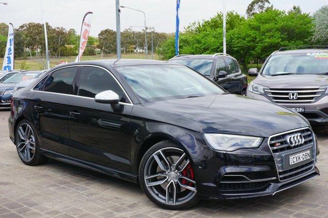 Used Audi S3 8V MY15 S tronic quattro, 2015 Audi S3 8V MY15 S tronic quattro Black 6 Speed Sports Automatic Dual Clutch Sedan