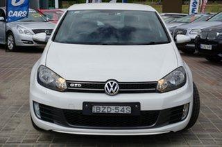 2011 Volkswagen Golf VI MY11 GTD DSG White 6 Speed Sports Automatic Dual Clutch Hatchback.