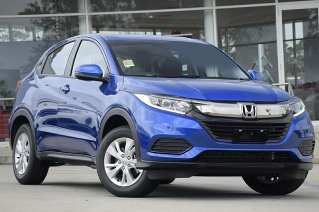 New Honda HR-V MY20 VTi, 2020 Honda HR-V MY20 VTi Brilliant Sporty Blue 1 Speed Constant Variable Hatchback