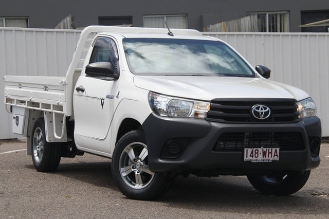 Used Toyota Hilux TGN121R Workmate 4x2, 2016 Toyota Hilux TGN121R Workmate 4x2 White 6 Speed Sports Automatic Cab Chassis