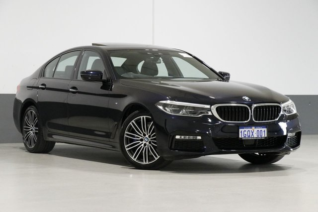 Used BMW 530i G30 MY18 M Sport, 2017 BMW 530i G30 MY18 M Sport Carbon Black 8 Speed Automatic Sedan