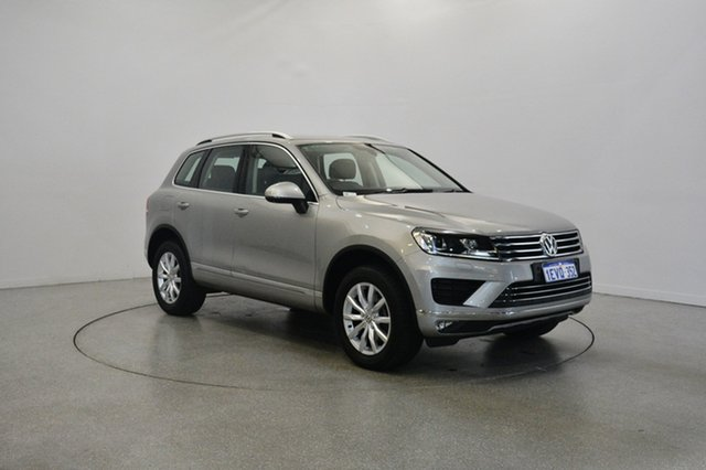 Used Volkswagen Touareg 7P MY15 150TDI Tiptronic 4MOTION, 2015 Volkswagen Touareg 7P MY15 150TDI Tiptronic 4MOTION Silver 8 Speed Sports Automatic Wagon