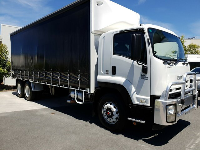 Used Isuzu FVZ1400 F , 2010 Isuzu FVZ1400 F LONG White Curtain Sider 7.8l RWD