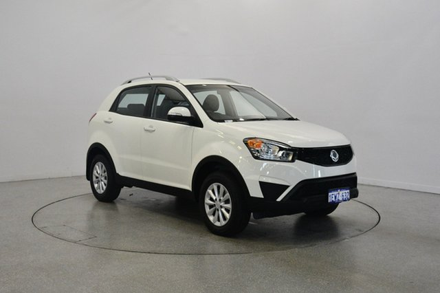 Used Ssangyong Korando C200 MY15 SX 2WD, 2015 Ssangyong Korando C200 MY15 SX 2WD White 6 Speed Automatic Wagon