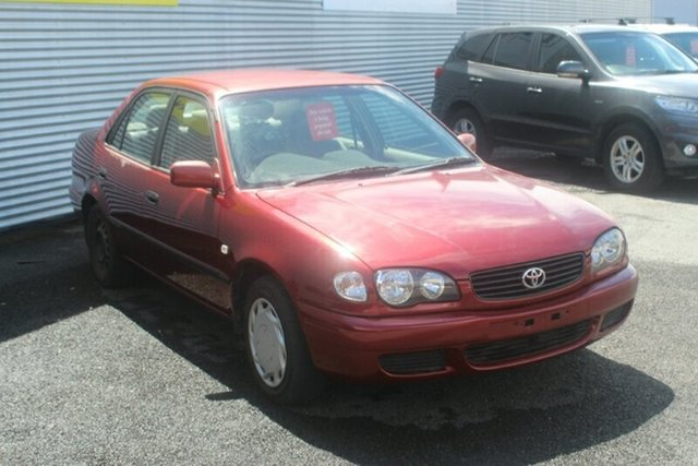 Used Toyota Corolla AE112R Ascent, 2000 Toyota Corolla AE112R Ascent Red 5 Speed Manual Sedan