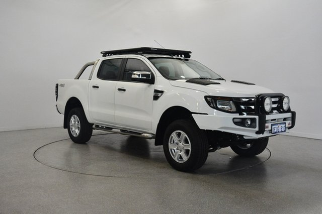 Used Ford Ranger PX XLT Double Cab, 2015 Ford Ranger PX XLT Double Cab White 6 Speed Sports Automatic Utility