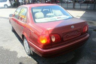2000 Toyota Corolla AE112R Ascent Red 5 Speed Manual Sedan.