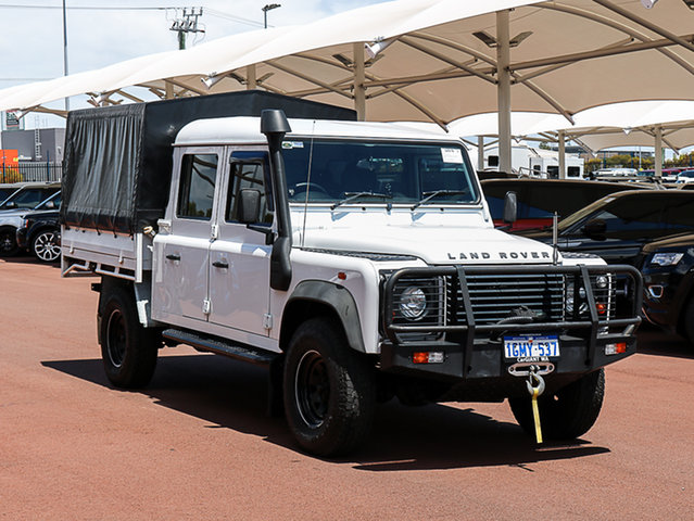 Used Land Rover Defender MY13 130 (4x4), 2013 Land Rover Defender MY13 130 (4x4) White 6 Speed Manual Crew Cab Chassis