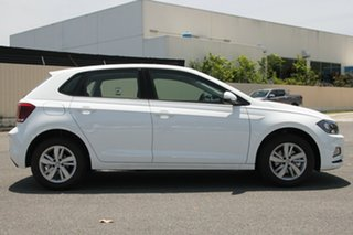 2018 Volkswagen Polo AW MY18 85TSI Comfortline Pure White 6 Speed Manual Hatchback.