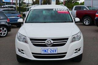 2010 Volkswagen Tiguan 5N MY11 147TSI DSG 4MOTION White 7 Speed Sports Automatic Dual Clutch Wagon.