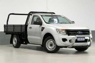 2012 Ford Ranger PX XL 2.2 (4x2) Silver 6 Speed Manual Cab Chassis.