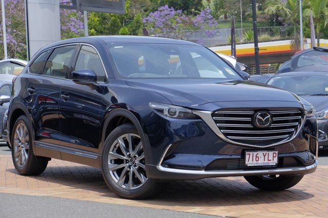 Demo Mazda CX-9 TC Azami SKYACTIV-Drive, 2018 Mazda CX-9 TC Azami SKYACTIV-Drive Deep Crystal Blue 6 Speed Sports Automatic Wagon