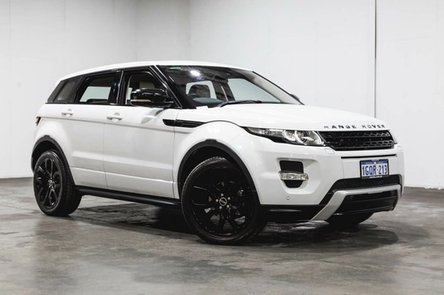 Used Land Rover Range Rover Evoque L538 MY12 SD4 CommandShift Dynamic, 2012 Land Rover Range Rover Evoque L538 MY12 SD4 CommandShift Dynamic Fuji White 6 Speed