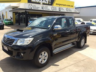 2012 Toyota Hilux KUN26R MY12 SR5 Xtra Cab Black 5 Speed Manual Utility