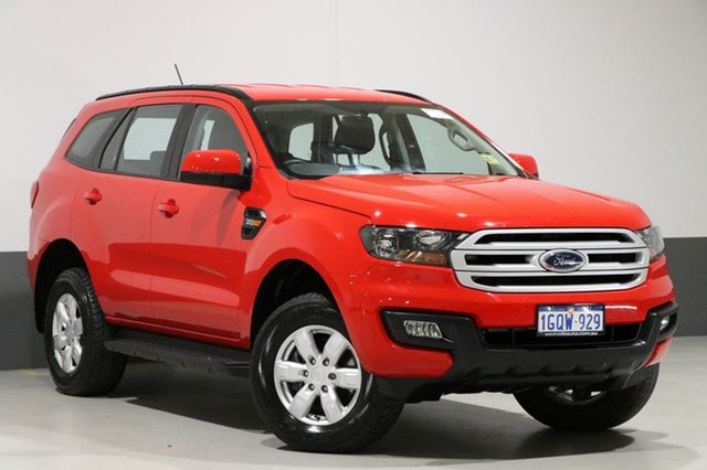 Used Ford Everest UA MY17.5 Ambiente (4WD 5 Seat), 2017 Ford Everest UA MY17.5 Ambiente (4WD 5 Seat) True Red 6 Speed Automatic Wagon