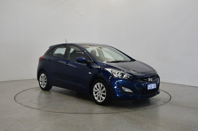 Used Hyundai i30 GD Active, 2013 Hyundai i30 GD Active Santorini Blue 6 Speed Sports Automatic Hatchback
