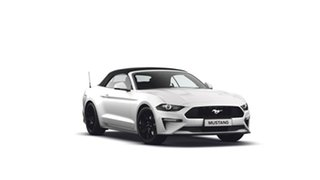 2018 Ford Mustang FN 2019MY SelectShift RWD Oxford White 10 Speed Sports Automatic Convertible.