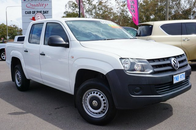 Used Volkswagen Amarok 2H MY12 TDI340 4x2, 2012 Volkswagen Amarok 2H MY12 TDI340 4x2 Candy White 6 Speed Manual Utility