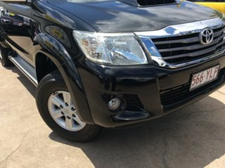 2012 Toyota Hilux KUN26R MY12 SR5 Xtra Cab Black 5 Speed Manual Utility.