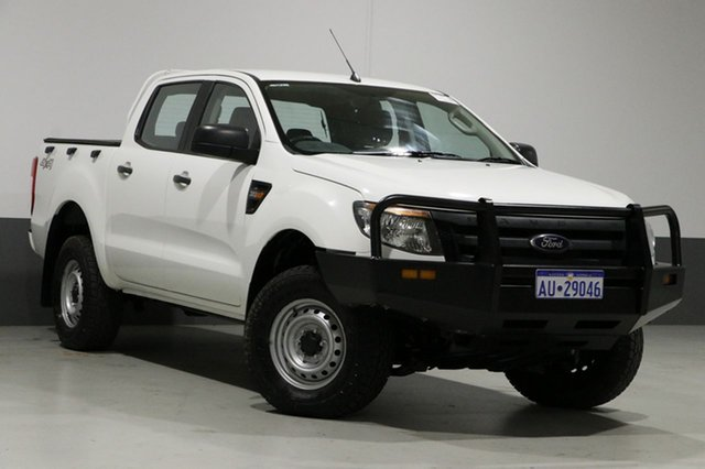 Used Ford Ranger PX XL 3.2 (4x4), 2013 Ford Ranger PX XL 3.2 (4x4) White 6 Speed Manual Dual Cab Utility