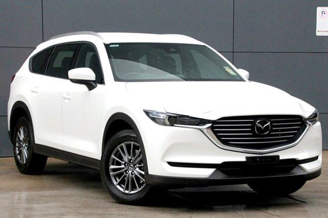 New Mazda CX-8 KG4W2A Sport SKYACTIV-Drive i-ACTIV AWD, 2019 Mazda CX-8 KG4W2A Sport SKYACTIV-Drive i-ACTIV AWD Snowflake White Pearl 6 Speed