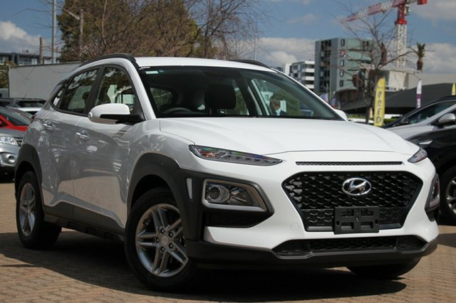 New Hyundai Kona OS.3 MY20 Active 2WD, 2019 Hyundai Kona OS.3 MY20 Active 2WD Chalk White 6 Speed Sports Automatic Wagon