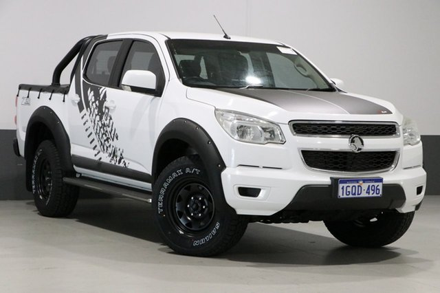 Used Holden Colorado RG LX (4x4), 2013 Holden Colorado RG LX (4x4) White 6 Speed Automatic Crew Cab Pickup