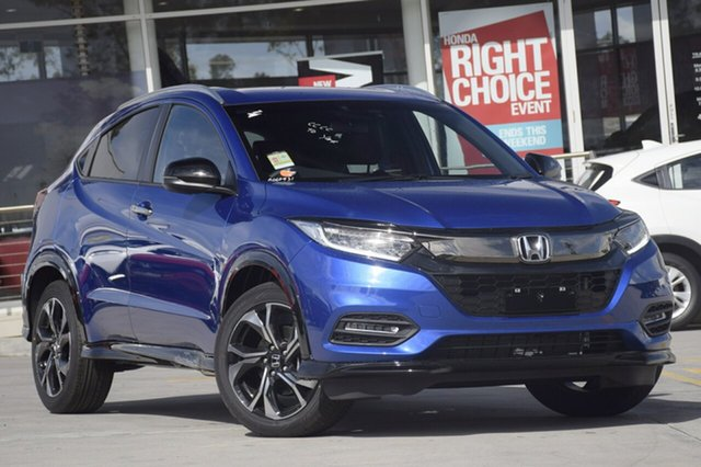 New Honda HR-V MY20 RS, 2019 Honda HR-V MY20 RS Brilliant Sporty Blue 1 Speed Constant Variable Hatchback