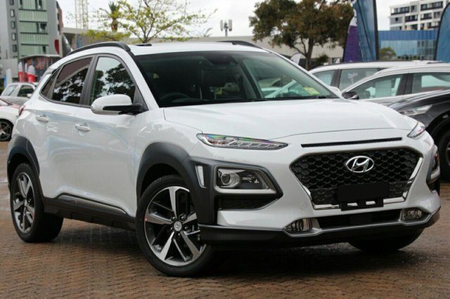 New Hyundai Kona OS.2 MY19 Highlander D-CT AWD, 2019 Hyundai Kona OS.2 MY19 Highlander D-CT AWD Chalk White 7 Speed Sports Automatic Dual Clutch