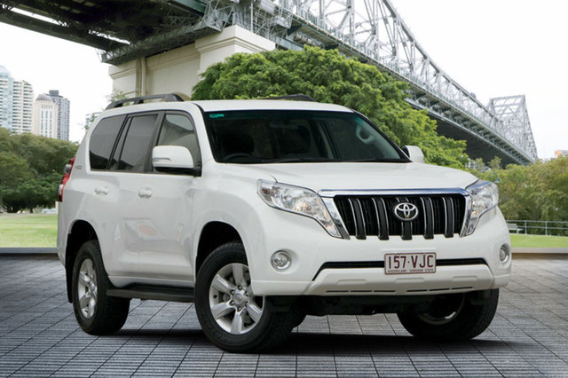 Used Toyota Landcruiser Prado KDJ150R MY14 GXL, 2014 Toyota Landcruiser Prado KDJ150R MY14 GXL White 6 Speed Manual Wagon