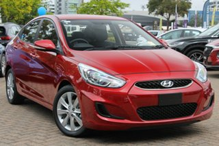 2019 Hyundai Accent RB6 MY18 Sport Pulse Red 6 Speed Automatic Sedan.
