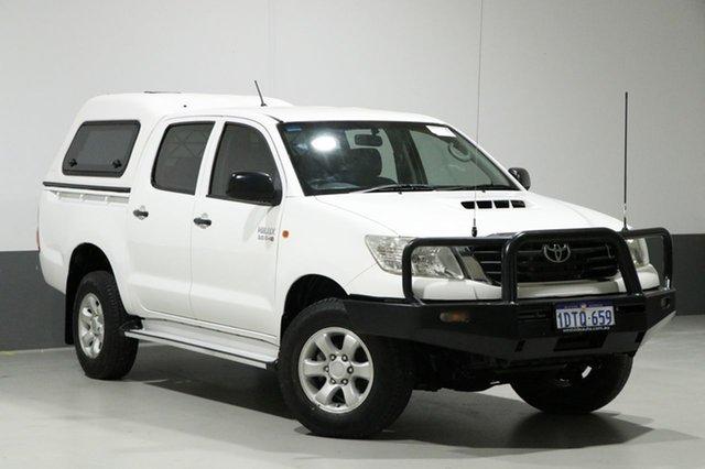 Used Toyota Hilux KUN26R MY12 SR (4x4), 2011 Toyota Hilux KUN26R MY12 SR (4x4) White 5 Speed Manual Dual Cab Pick-up