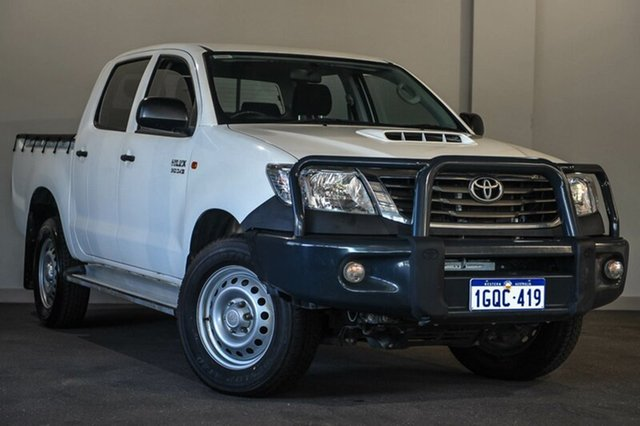 Used Toyota Hilux KUN26R MY14 SR Double Cab, 2014 Toyota Hilux KUN26R MY14 SR Double Cab White 5 Speed Automatic Utility