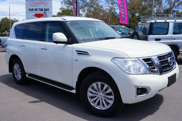 Used Nissan Patrol Y62 Series 4 TI-L, 2018 Nissan Patrol Y62 Series 4 TI-L White 7 Speed Sports Automatic Wagon