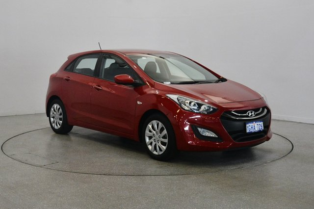 Used Hyundai i30 GD2 Active, 2014 Hyundai i30 GD2 Active Red 6 Speed Sports Automatic Hatchback