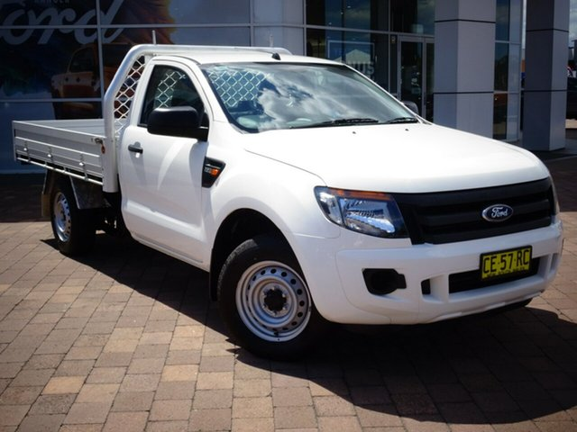 Used Ford Ranger PX XL 4x2, 2015 Ford Ranger PX XL 4x2 Cool White 6 Speed Manual Cab Chassis