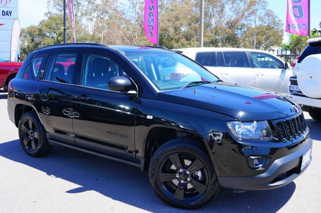 Used Jeep Compass MK MY14 Blackhawk CVT Auto Stick, 2014 Jeep Compass MK MY14 Blackhawk CVT Auto Stick Black 6 Speed Constant Variable Wagon