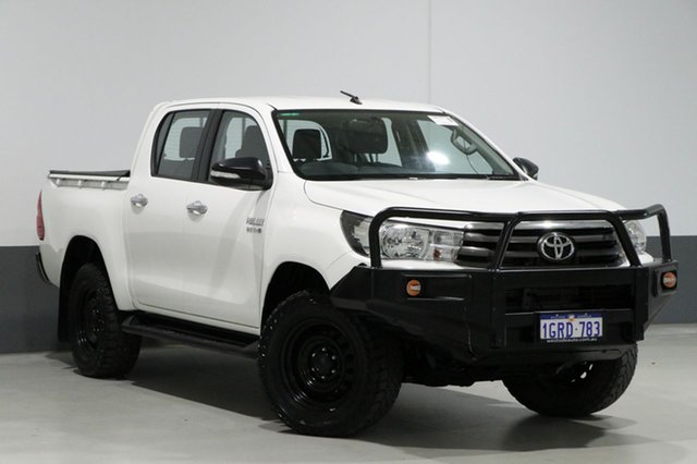 Used Toyota Hilux GUN126R SR (4x4), 2016 Toyota Hilux GUN126R SR (4x4) White 6 Speed Automatic Dual Cab Utility
